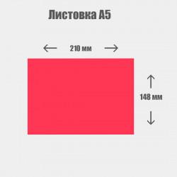 Дизайн с нуля. Листовка А5 210x148мм