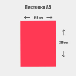 Дизайн с нуля. Листовка А5 148x210мм