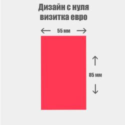 Дизайн с нуля. Евро визитка вертикальная  55×85мм